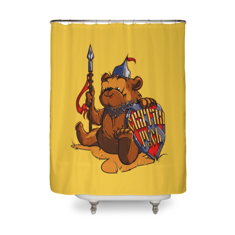 Bear from Russia Home Shower Curtain by fishark's Artist Shop
