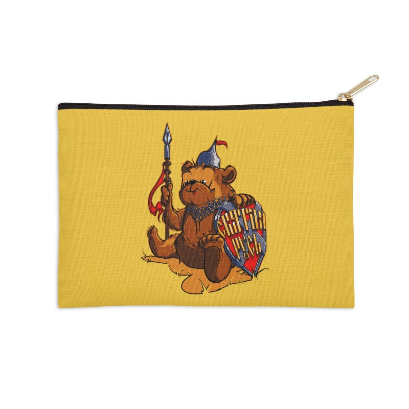 Bear from Russia Accessories Zip Pouch by fishark's Artist Shop