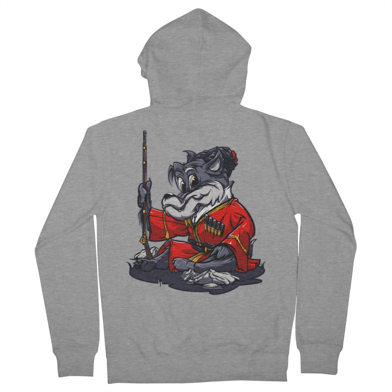 Wolf from Russia Men's Zip-Up Hoody by fishark's Artist Shop