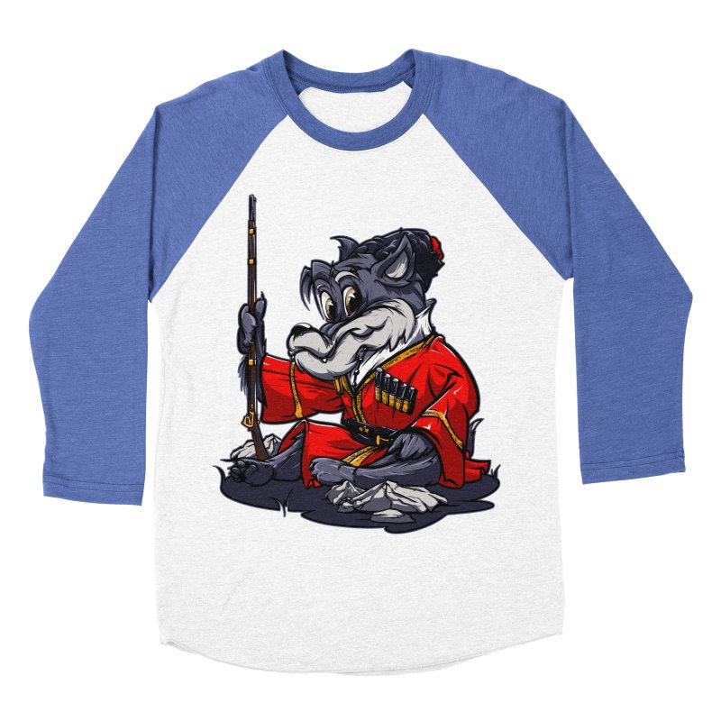 Wolf from Russia Women's Baseball Triblend T-Shirt by fishark's Artist Shop