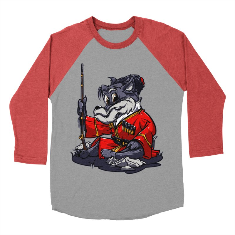 Wolf from Russia Men's Baseball Triblend T-Shirt by fishark's Artist Shop