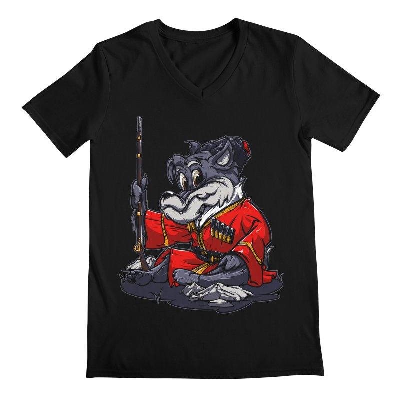 Wolf from Russia Men's V-Neck by fishark's Artist Shop