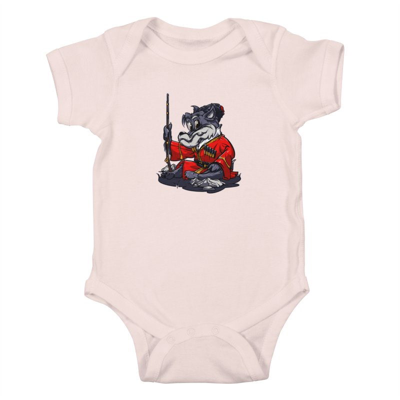 Wolf from Russia Kids Baby Bodysuit by fishark's Artist Shop