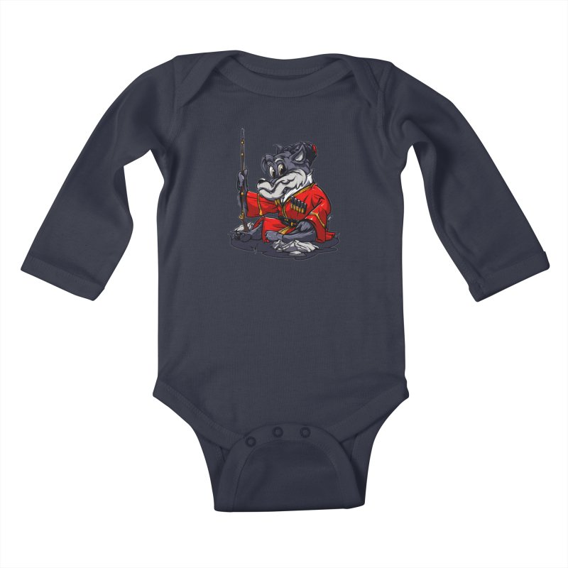 Wolf from Russia Kids Baby Longsleeve Bodysuit by fishark's Artist Shop
