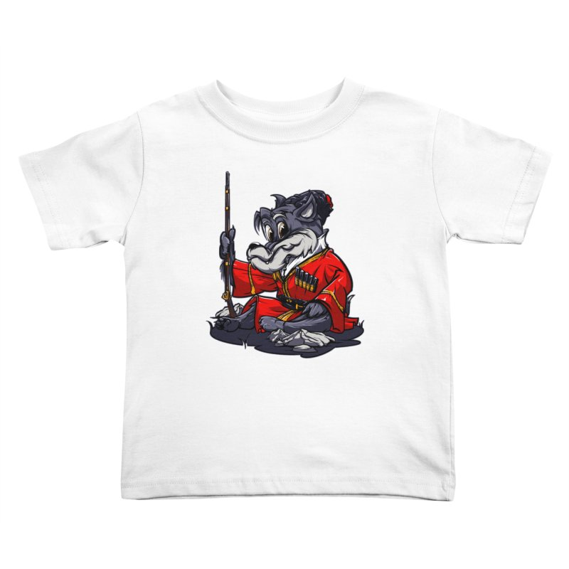 Wolf from Russia Kids Toddler T-Shirt by fishark's Artist Shop