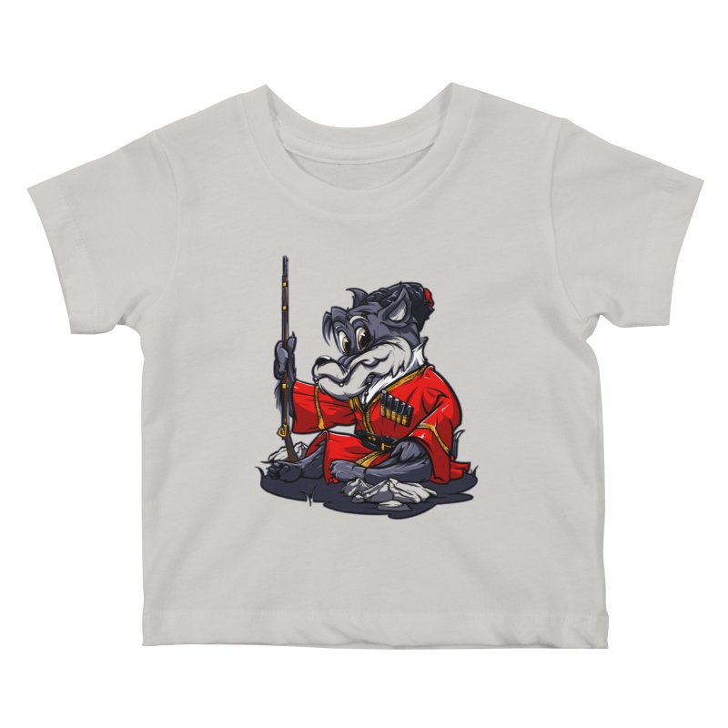 Wolf from Russia Kids Baby T-Shirt by fishark's Artist Shop