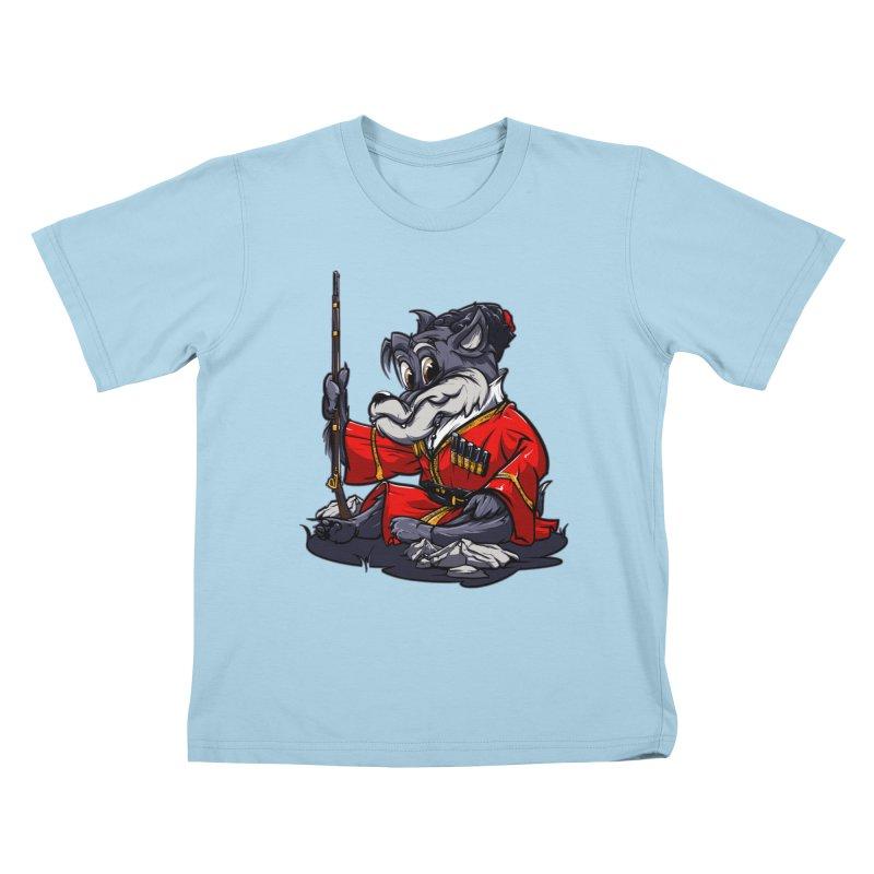 Wolf from Russia Kids T-shirt by fishark's Artist Shop