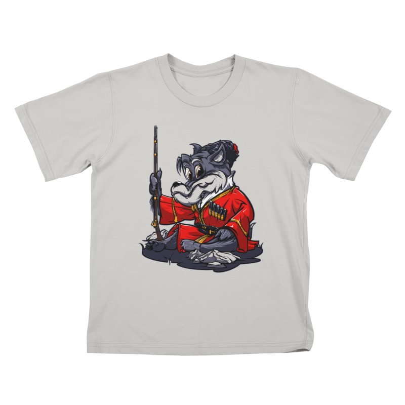 Wolf from Russia Kids T-Shirt by fishark's Artist Shop