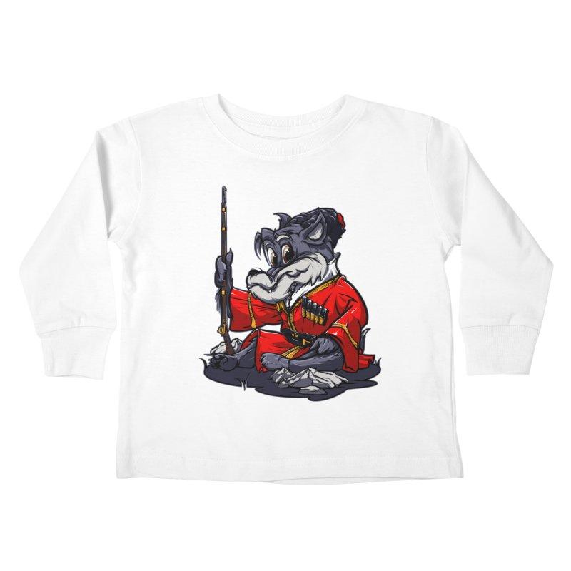 Wolf from Russia Kids Toddler Longsleeve T-Shirt by fishark's Artist Shop