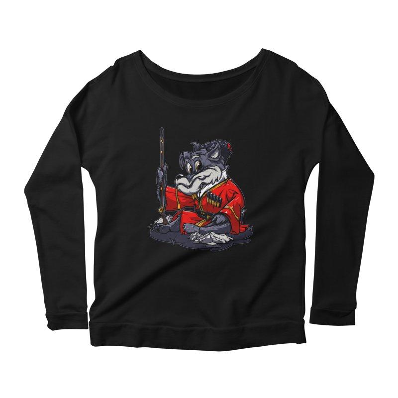 Wolf from Russia Women's Longsleeve Scoopneck  by fishark's Artist Shop