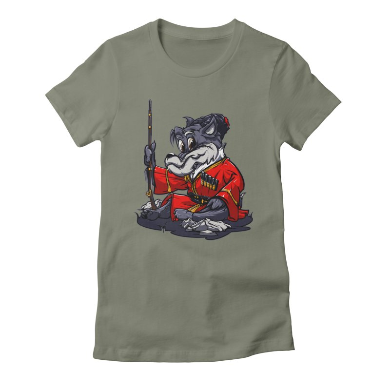 Wolf from Russia Women's Fitted T-Shirt by fishark's Artist Shop