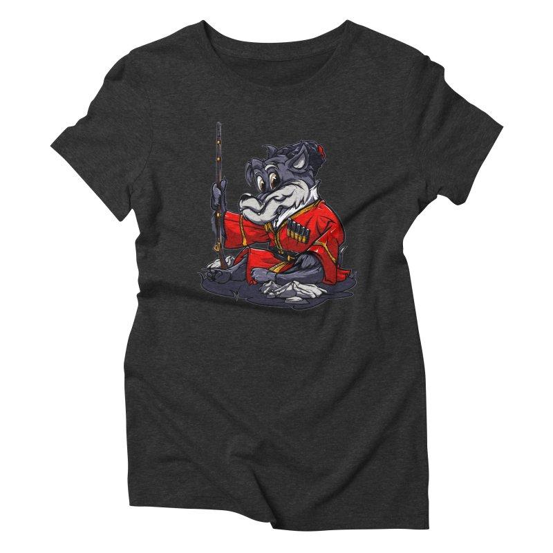 Wolf from Russia Women's Triblend T-Shirt by fishark's Artist Shop