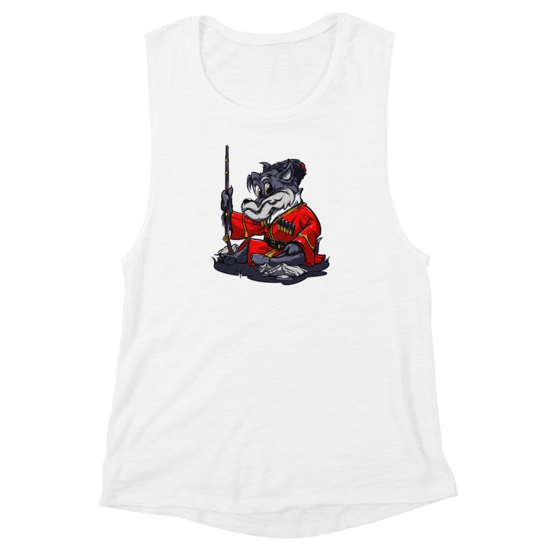 Wolf from Russia Women's Muscle Tank by fishark's Artist Shop
