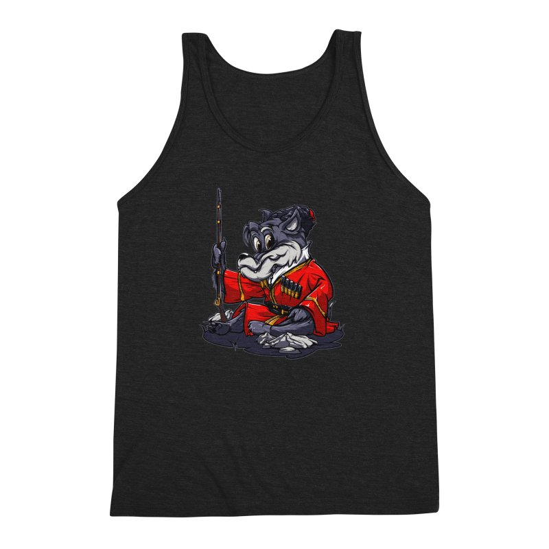 Wolf from Russia Men's Triblend Tank by fishark's Artist Shop