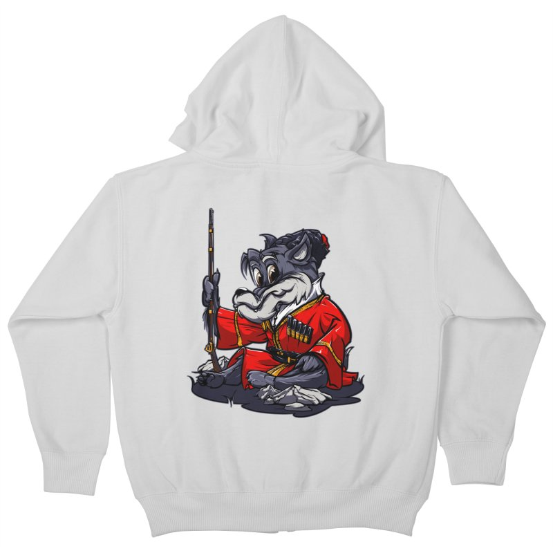 Wolf from Russia Kids Zip-Up Hoody by fishark's Artist Shop