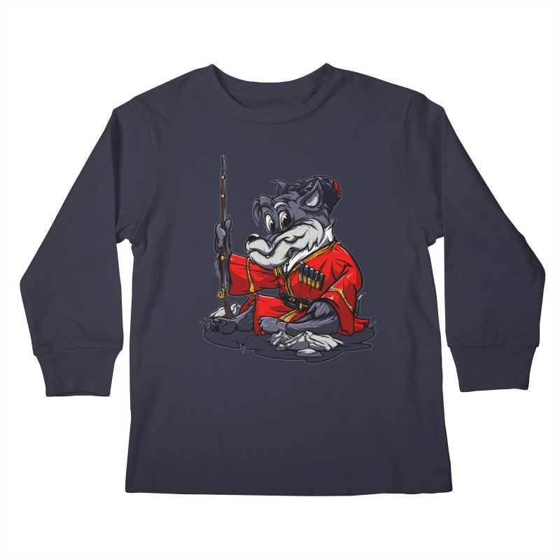 Wolf from Russia Kids Longsleeve T-Shirt by fishark's Artist Shop