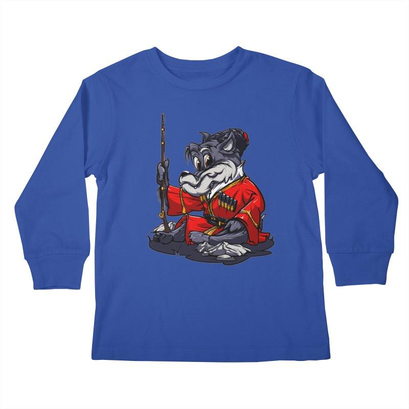 Wolf from Russia Kids Longsleeve T-Shirt by fishark's Artist Shop
