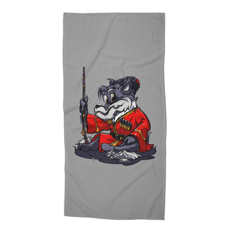 Wolf from Russia Accessories Beach Towel by fishark's Artist Shop