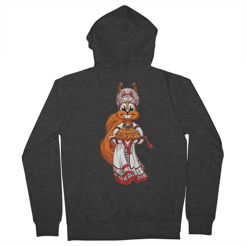 squirrel from Russia Men's Zip-Up Hoody by fishark's Artist Shop