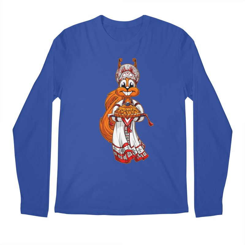 squirrel from Russia Men's Longsleeve T-Shirt by fishark's Artist Shop