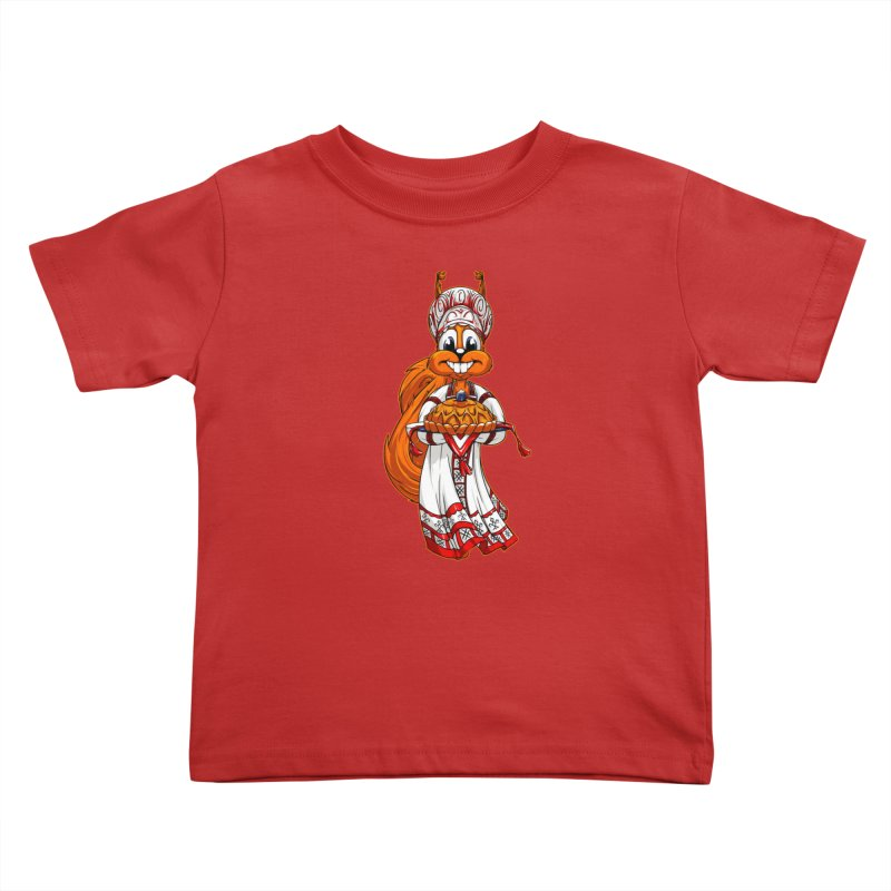squirrel from Russia Kids Toddler T-Shirt by fishark's Artist Shop