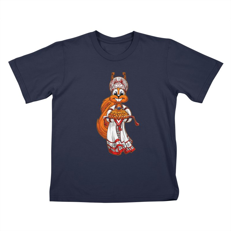 squirrel from Russia Kids T-Shirt by fishark's Artist Shop