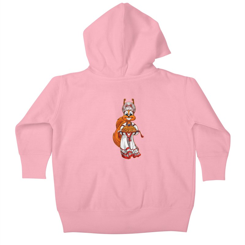 squirrel from Russia Kids Baby Zip-Up Hoody by fishark's Artist Shop