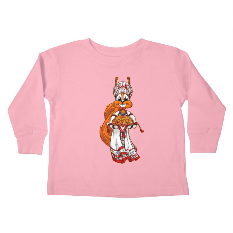 squirrel from Russia Kids Toddler Longsleeve T-Shirt by fishark's Artist Shop