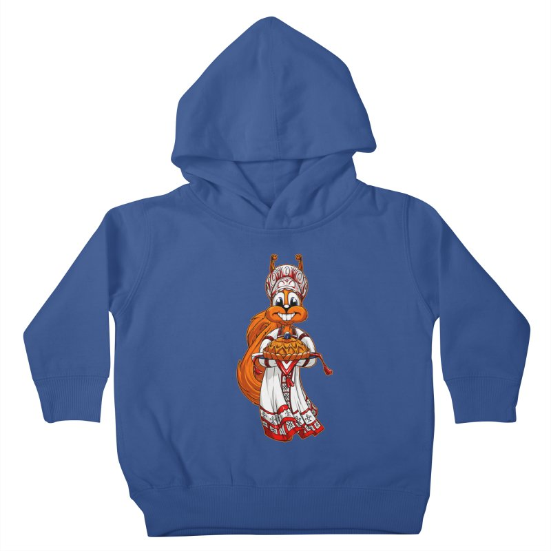 squirrel from Russia Kids Toddler Pullover Hoody by fishark's Artist Shop