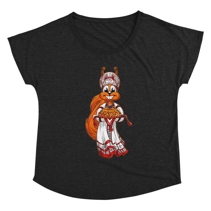 squirrel from Russia Women's Dolman by fishark's Artist Shop