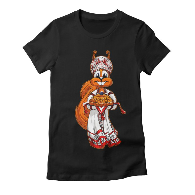 squirrel from Russia Women's Fitted T-Shirt by fishark's Artist Shop