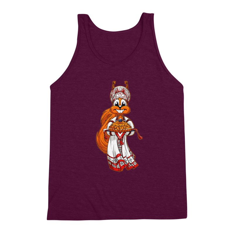 squirrel from Russia Men's Triblend Tank by fishark's Artist Shop