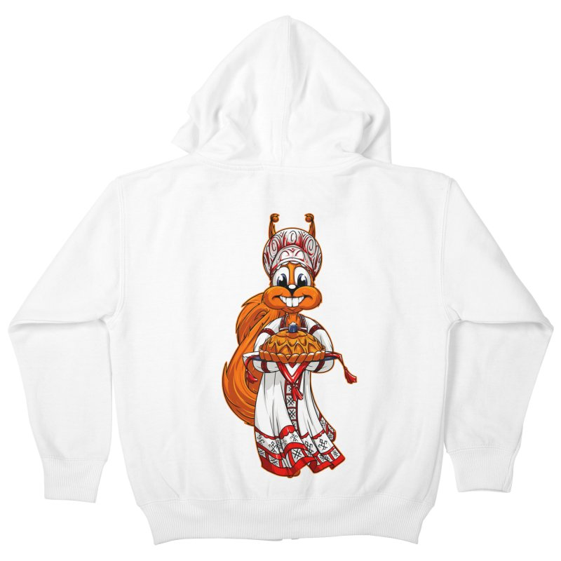 squirrel from Russia Kids Zip-Up Hoody by fishark's Artist Shop
