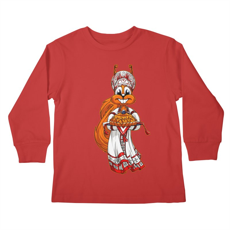 squirrel from Russia Kids Longsleeve T-Shirt by fishark's Artist Shop