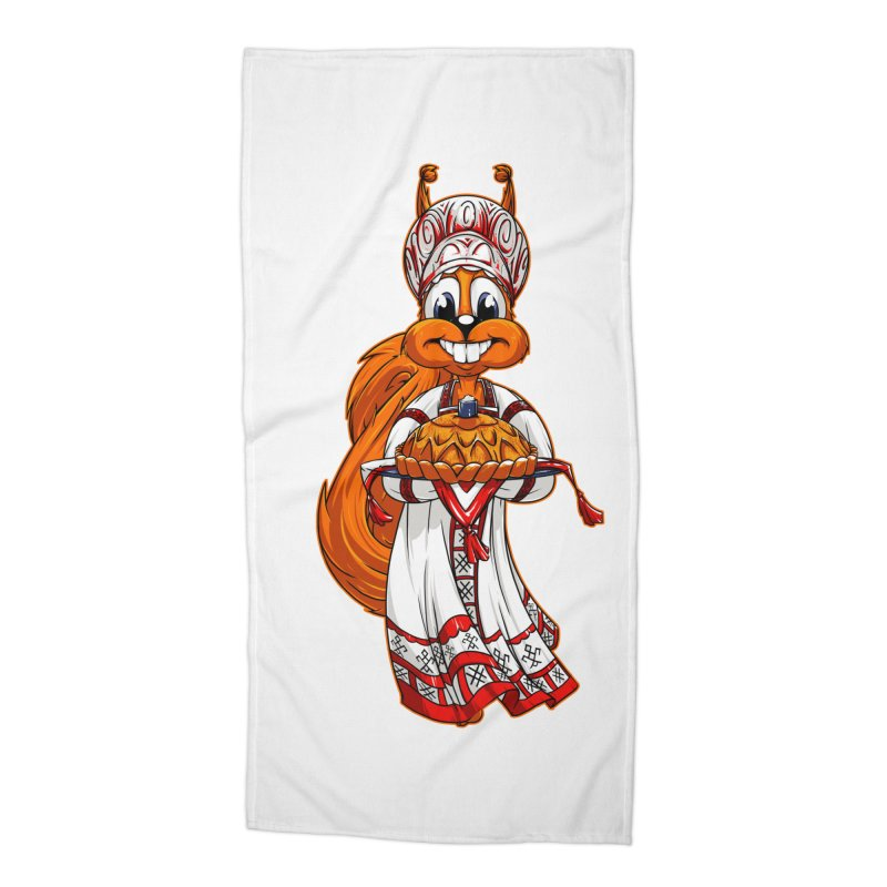 squirrel from Russia Accessories Beach Towel by fishark's Artist Shop