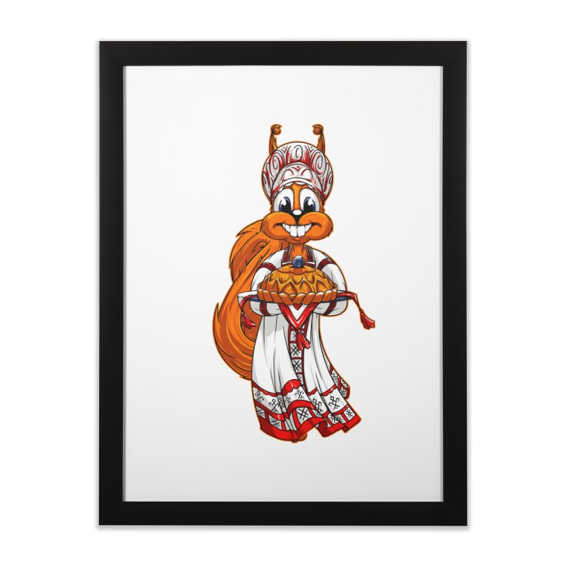 squirrel from Russia Home Framed Fine Art Print by fishark's Artist Shop