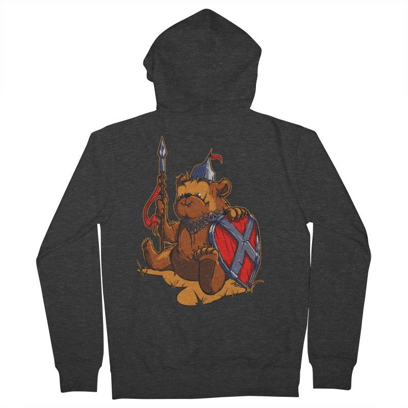 Bear Men's Zip-Up Hoody by fishark's Artist Shop