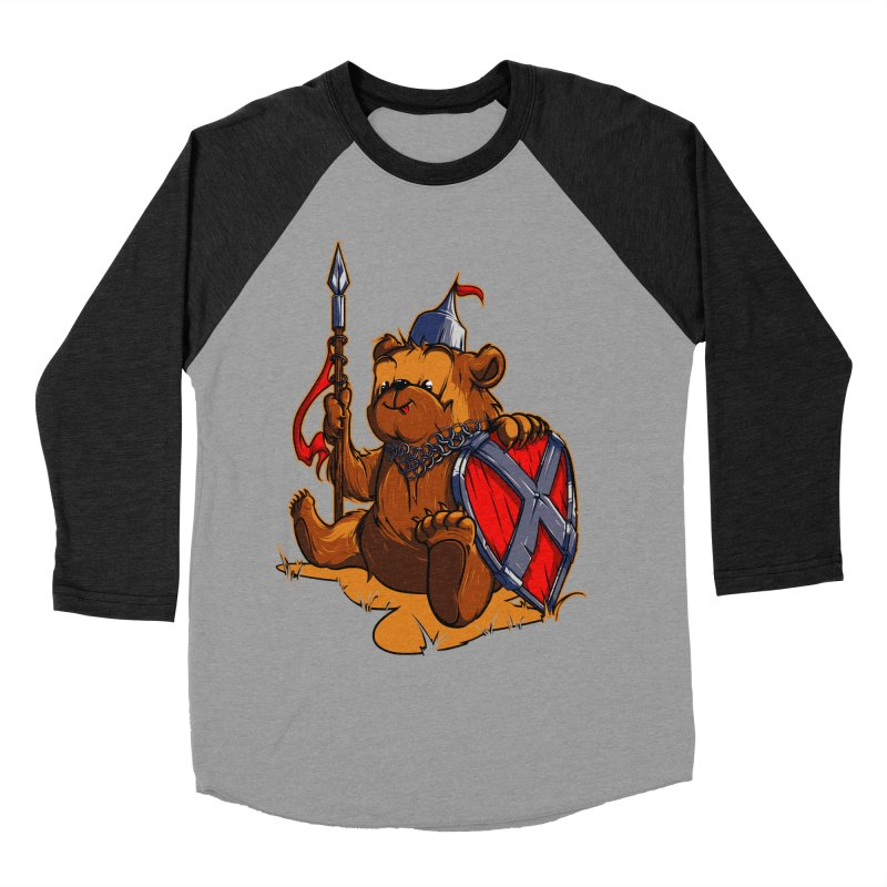 Bear Women's Baseball Triblend T-Shirt by fishark's Artist Shop