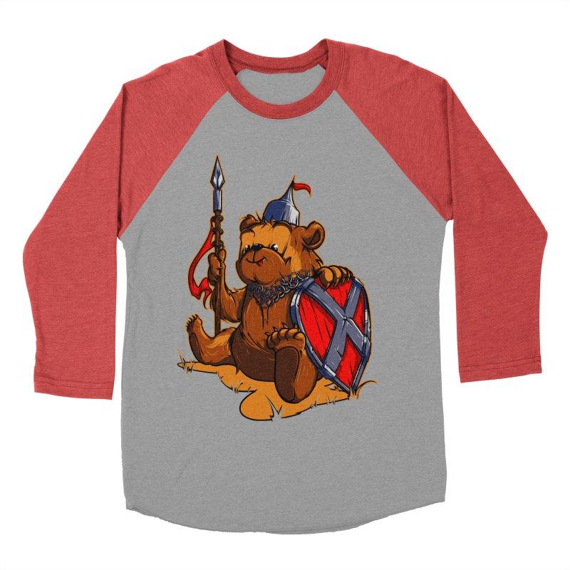Bear Men's Baseball Triblend T-Shirt by fishark's Artist Shop