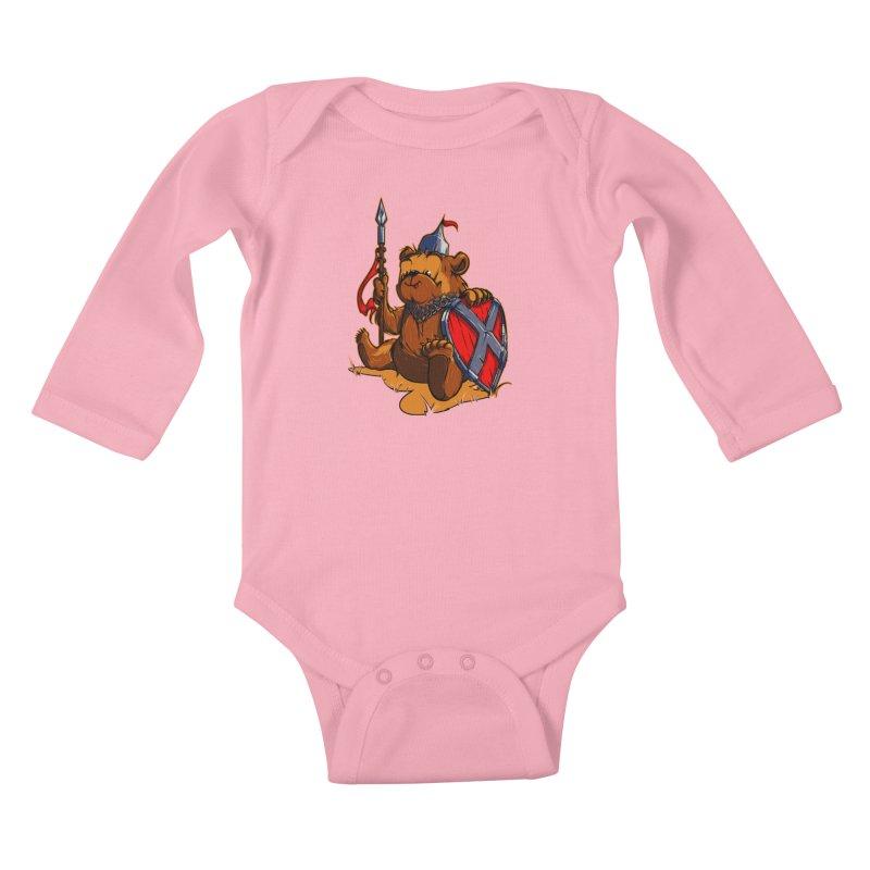 Bear Kids Baby Longsleeve Bodysuit by fishark's Artist Shop
