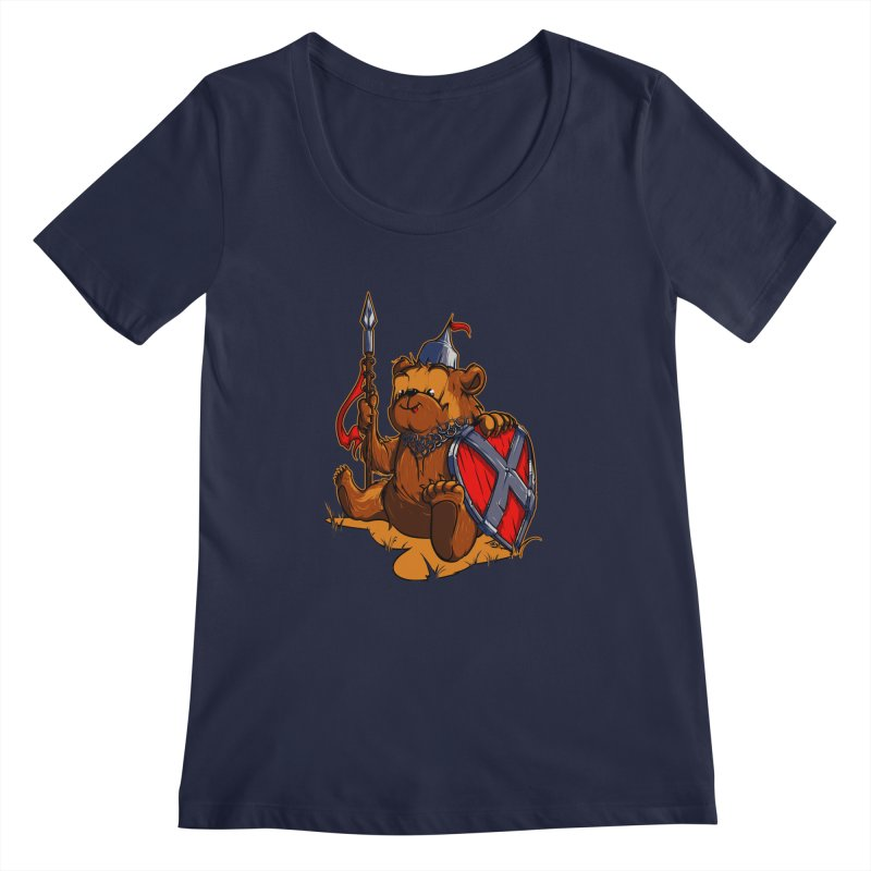 Bear Women's Scoopneck by fishark's Artist Shop