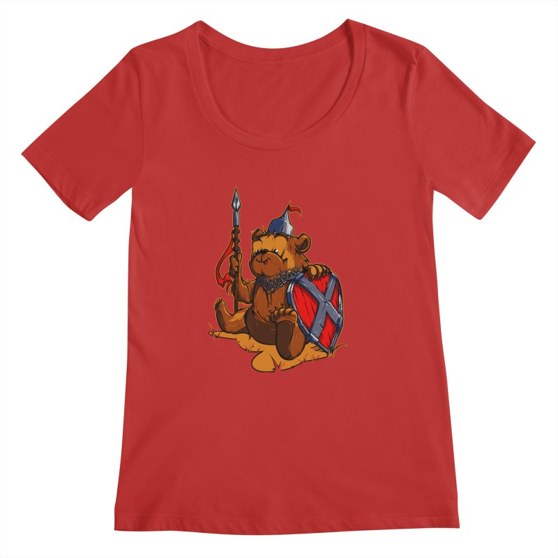 Bear Women's Scoopneck by fishark's Artist Shop