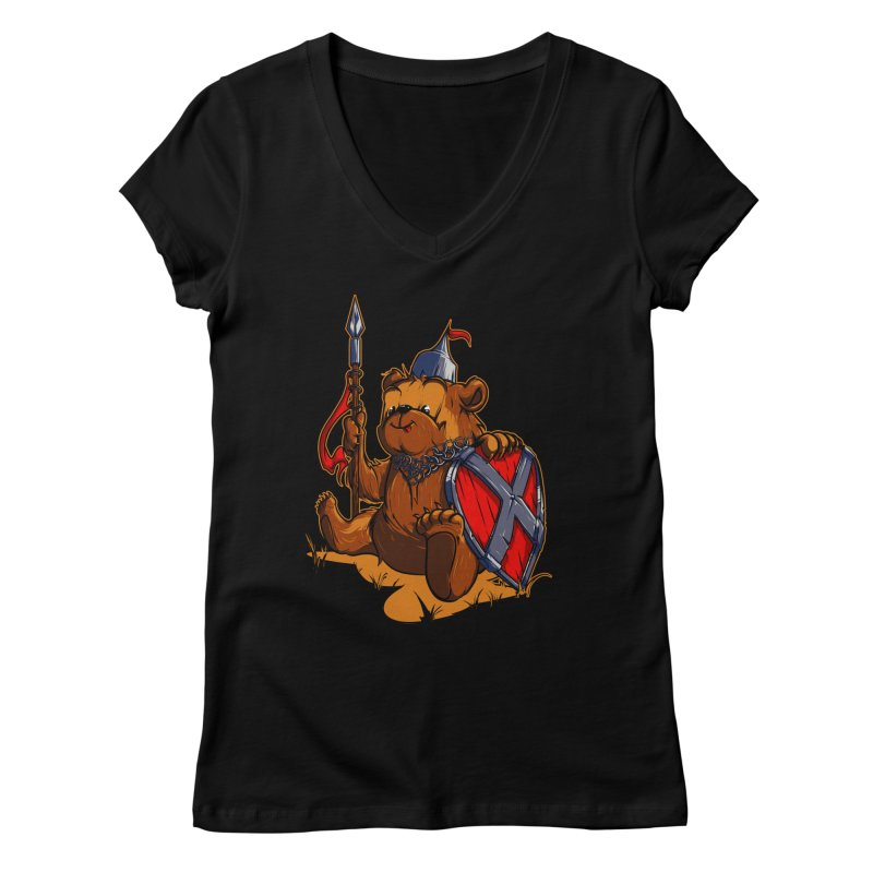 Bear Women's V-Neck by fishark's Artist Shop
