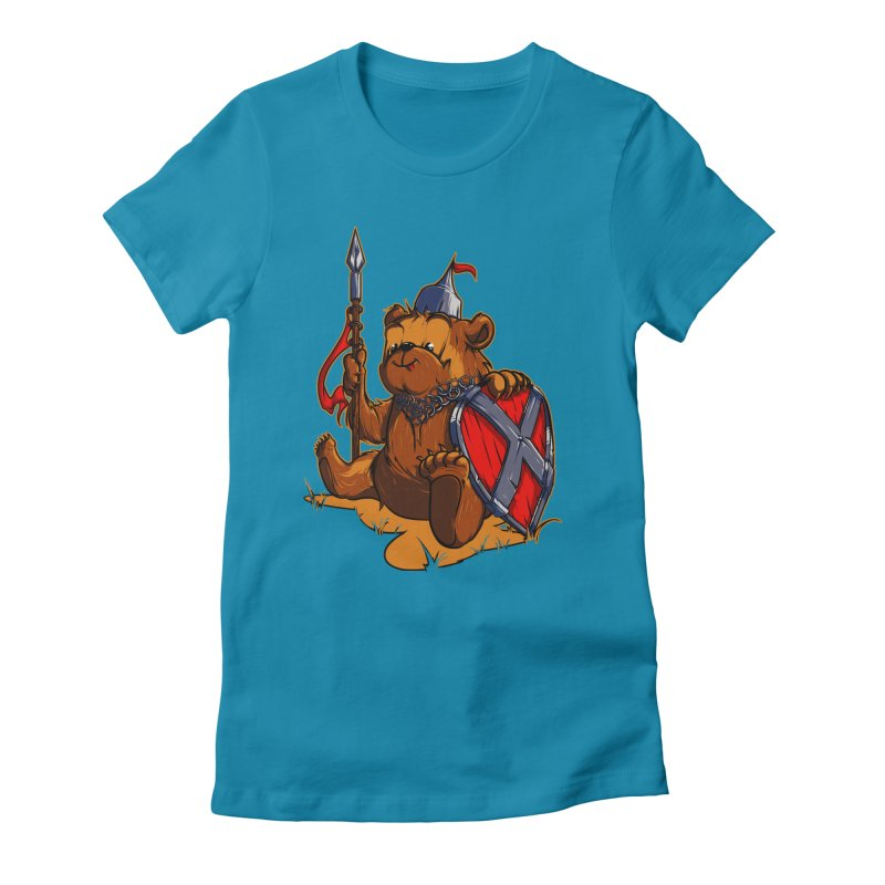 Bear Women's Fitted T-Shirt by fishark's Artist Shop