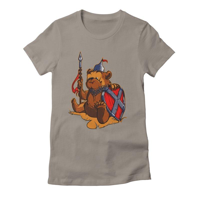 Bear Women's Fitted T-Shirt by fishark's Artist Shop