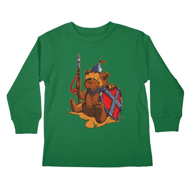 Bear Kids Longsleeve T-Shirt by fishark's Artist Shop