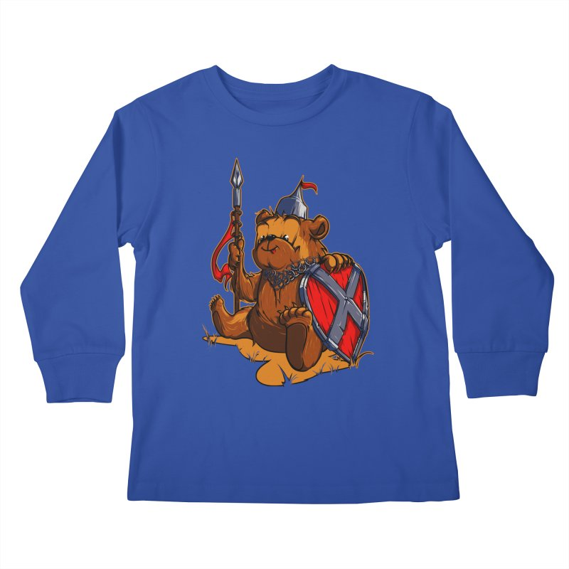 Bear Kids Longsleeve T-Shirt by fishark's Artist Shop