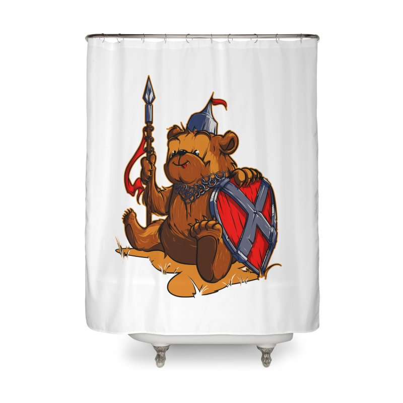 Bear Home Shower Curtain by fishark's Artist Shop
