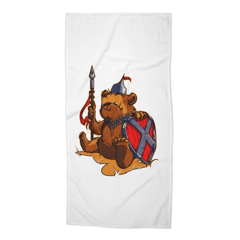 Bear Accessories Beach Towel by fishark's Artist Shop