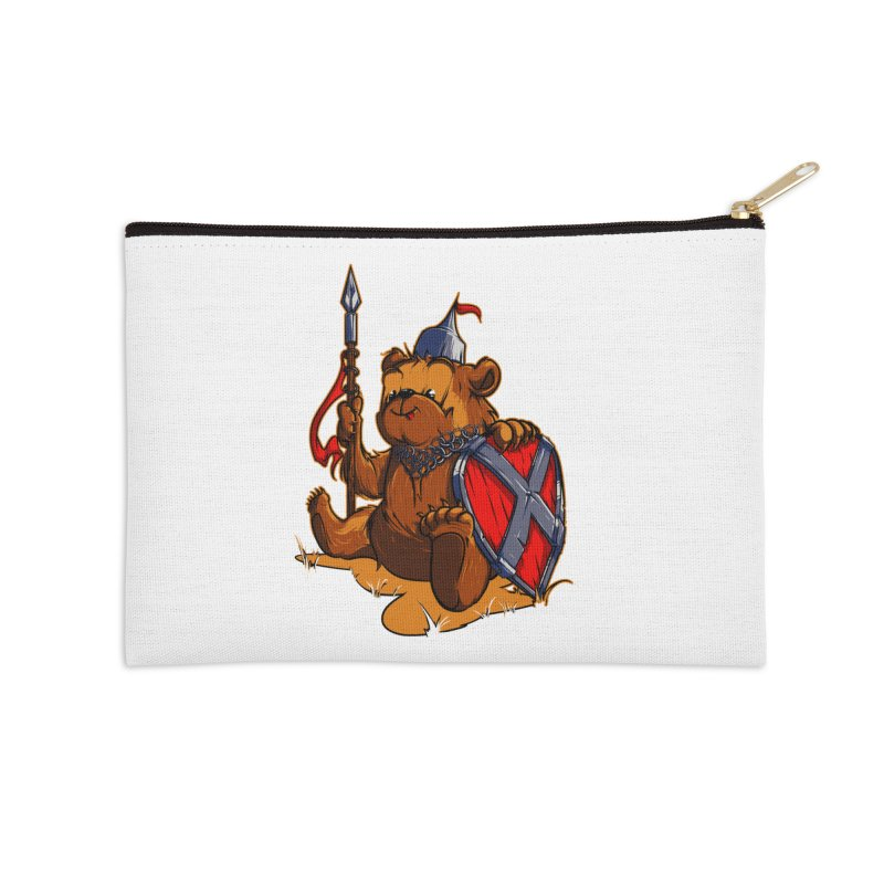 Bear Accessories Zip Pouch by fishark's Artist Shop